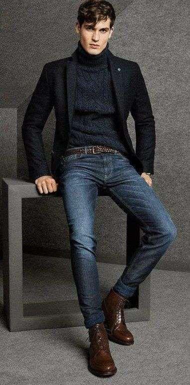 abbinamento pantaloni blu giacca