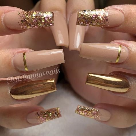 55 Trendy Rose Gold Nails That You Cant Resist  Nail designs