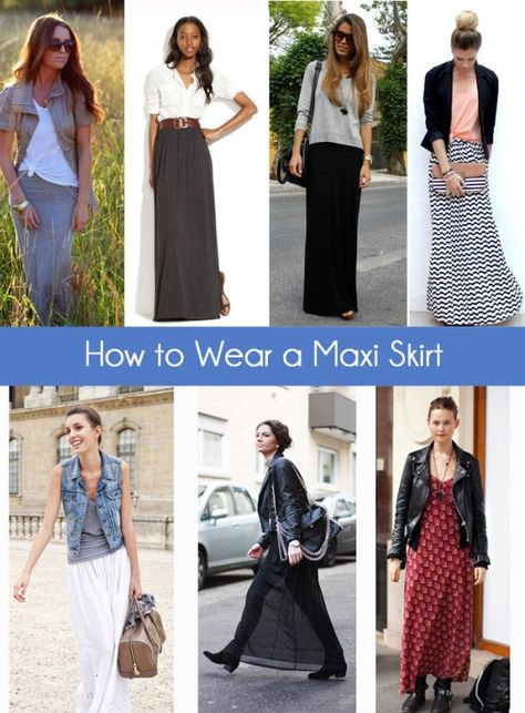How to Wear a Maxi Skirt by ivy