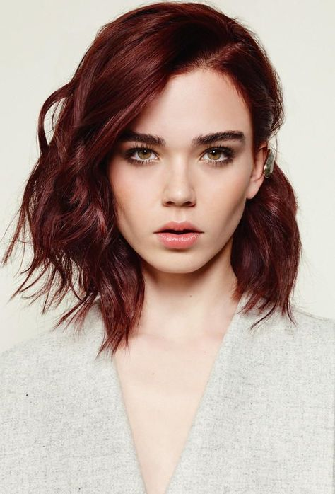 The shorter the hair, the harder they stare!! Loving these gorgeous auburn locks on this stunning beauty