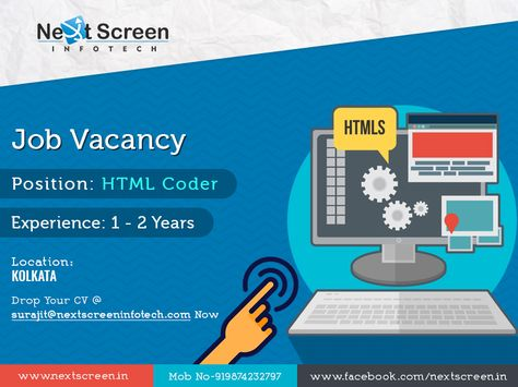 Start Your Career With Attractive Salary Package Post Html Professional Experience 1 2 Year Website Development Company Best Web Design Web Design Company