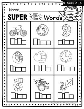 Free Long Vowel Activities Phonics Worksheets Silent E Cvce
