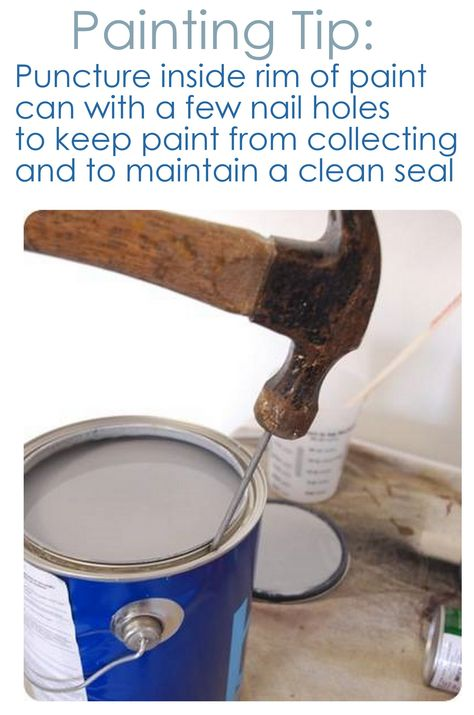 nail holes in paint can rim for a clean seal