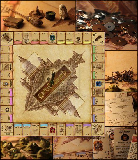 Deviantart More Like Skyrim Monopoly Board By Wasteguru Harry Potter Monopoly Harry Potter Props Harry Potter Games