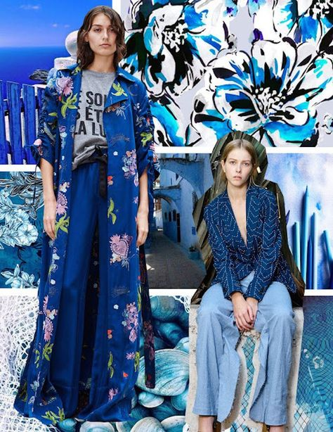PRINT AND PATTERN - FEELING BLUE . SS 2019   Style Council of NYC specializes full service in custom artwork, hand painting, CAD,... #FashionTrendsBook