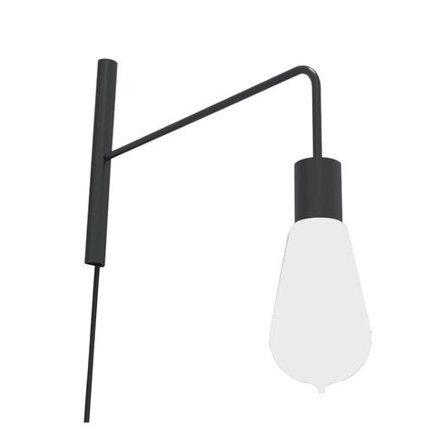 Applique Design E27 America Métal Noir Crispé 1 Lumicom