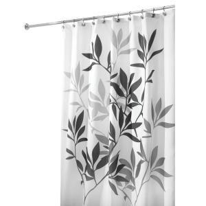 Interdesign 72 In Tuxedo Shower Curtain In White 22280 Fabric