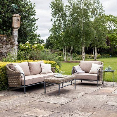 Garden Trading Heyshott Sofa Set In 2020 Outdoor Sofa Sets Garden Sofa Best Outdoor Furniture