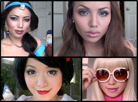 Halloween makeup tutorials from Michelle Phan and Promise Phan