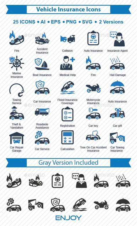 Vehicle Insurance Icons Car Insurance Insurance Accident Insurance