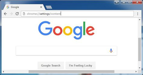 Type chrome://settings/content in the address bar | Google