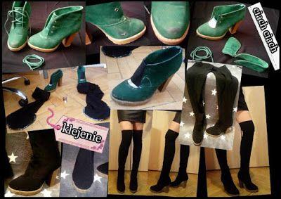 Jak Przerobic Buty Na Kozaki Diy Character Shoes Sport Shoes