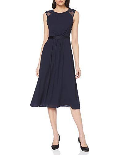 S Oliver Black Label Damen 70 903 81 3172 Partykleid Blau Deep Sea 5954 Herstellergrosse 38 Partykleid Kleider Kleid Arbeit
