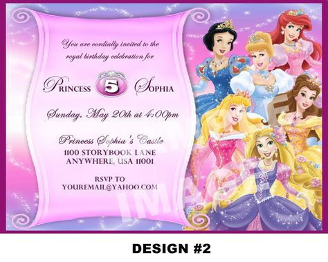 Disney Princess Birthday Invitation -free to download and edit - best of invitation template princess