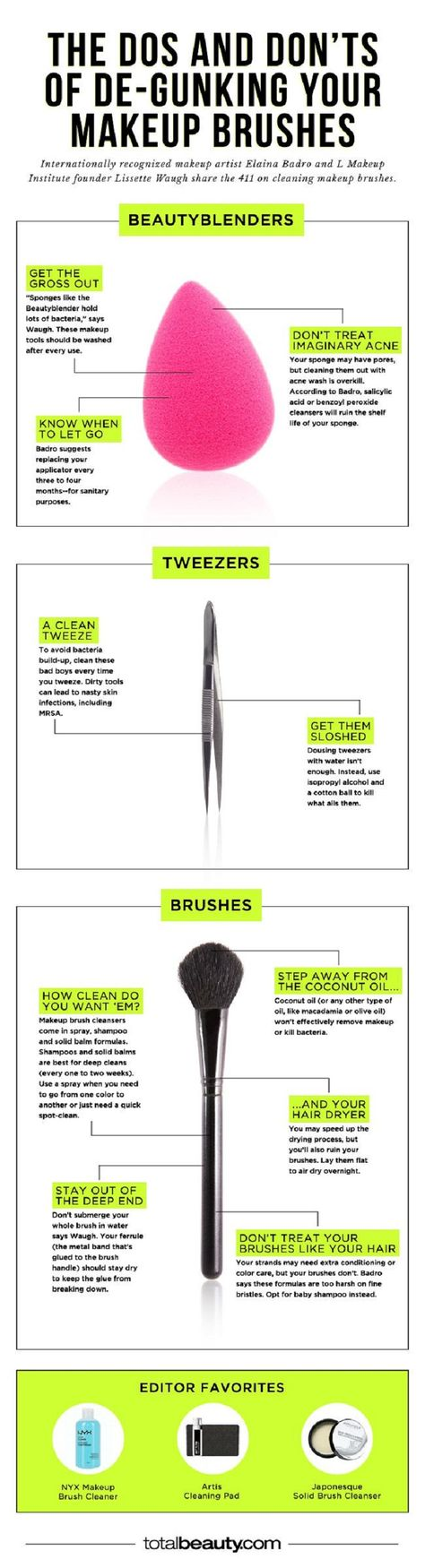 Guide of Makeup Brush Cleaning - 12 Homemade DIY Makeup Brush Cleaners   GleamItUp