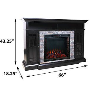 Bennett Infrared Electric Fireplace Tv Stand In Farmhouse Ebony