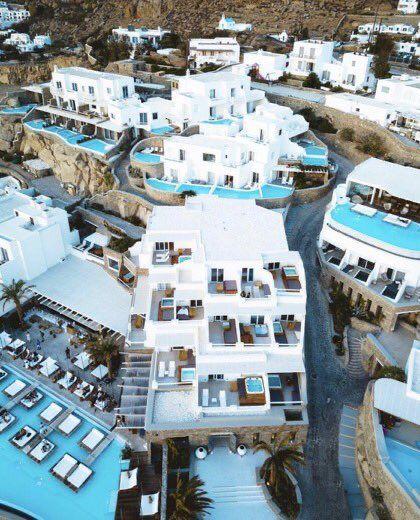 لو ن حياتك Color On Twitter Mykonos Dream Vacations Indoor Pool