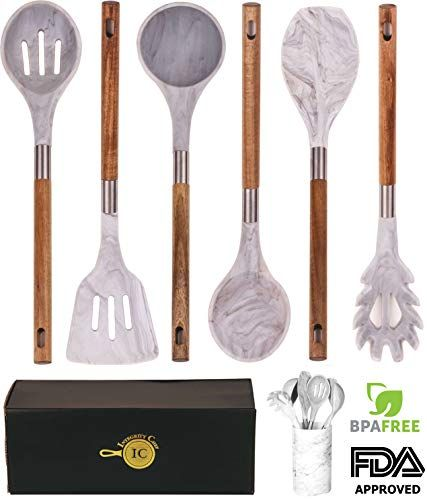 Brand New Marble Silicone Kitchen Utensil Set By Integrity Chef