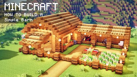 Minecraft: How To Build a Simple Barn for animals Lego Minecraft, Minecraft Building Guide, Cute Minecraft Houses, Lego Moc, Minecraft House Tutorials, Minecraft Houses Survival, Minecraft Plans, Amazing Minecraft, Minecraft House Designs