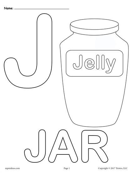 Letter J Alphabet Coloring Pages 3 Printable Versions Alphabet Coloring Pages Alphabet Coloring Letter A Coloring Pages