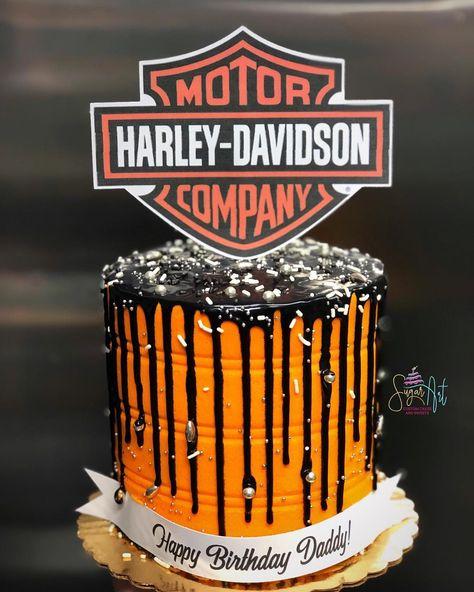 Pin On Harley Cake