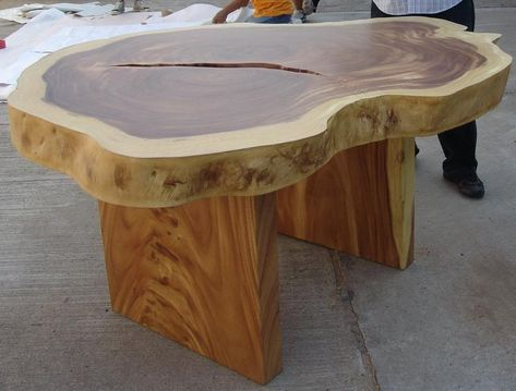 Live Edge da pranzo tavolo bonificata legno di Acacia ...