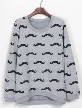 To find out about the Grey Long Sleeve Cartoon Beard Print Sweatshirt at SHEIN, part of our latest Sweatshirts ready to shop online today!