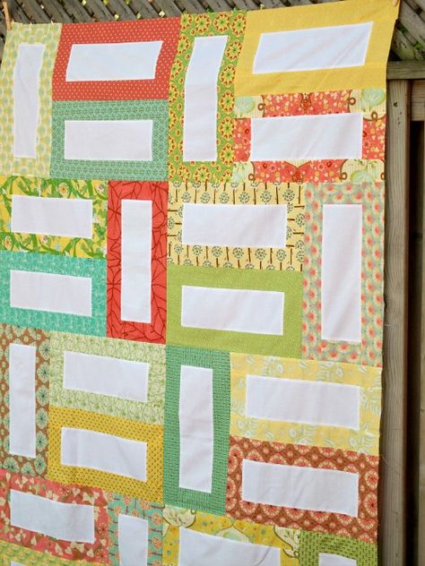 """free pattern.. quilt is made using 1 yard of solid and 24 wof 2.5"""" strips"""