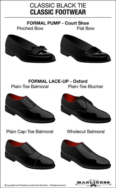 f2561e1287c You have two style options for black tie shoes  formal pumps (also called opera  pumps or court shoes)