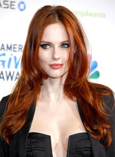 Alyssa Campanella's Long, Red, Tousled, Sexy Hairstyle-- add bangs?
