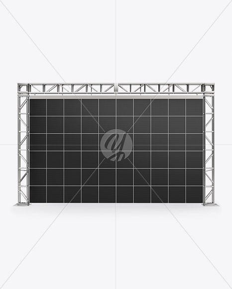 Exhibition Video Wall Mockup Front View In Indoor Advertising Mockups On Yellow Images Object Mockups Video Wall Mockup Free Psd Psd Template Free