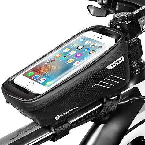 ENONEO Support Telephone Moto Etanche Porte Telephone V/élo Universel avec /Écran Tactile Sacoche V/élo Cadre Support Smartphone Guidon VTT pour iPhone 11//XS//8//Samsung S9//S10//Huawei jusqu/à 6.8 Noir