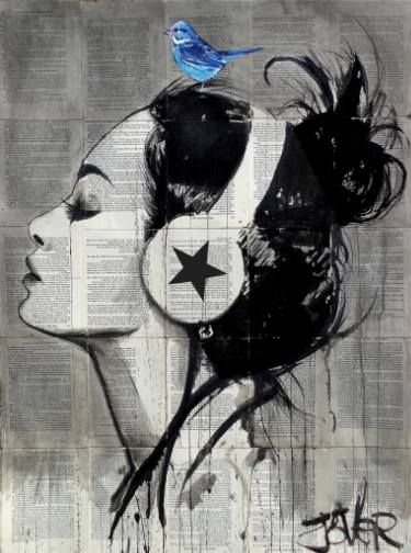 "Saatchi Art Artist LOUI JOVER; Drawing, ""runaway skies"" #art"