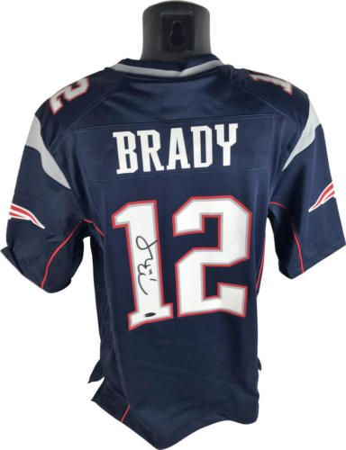 outlet store 9223c 0349b Tom Brady Signed Autographed NIKE Patriots Jersey Tri Star ...