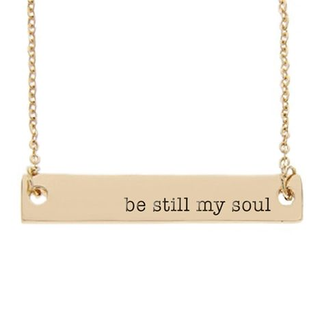 f9caee961741fc Be Still My Soul Bar Necklace- love all their new bar necklaces. Can't  decide between this and the one that says