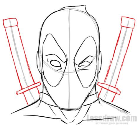 How To Draw Deadpool Easy For Beginners Lessdraw Deadpool Drawing Drawing Superheroes Easy Drawings