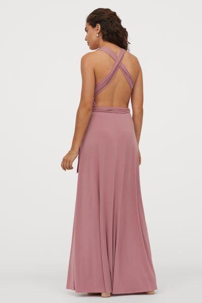 Multi Tie Maxikleid Rostrot Damen H M Ch In 2020 Modestil Kleider H M Lange Kleider