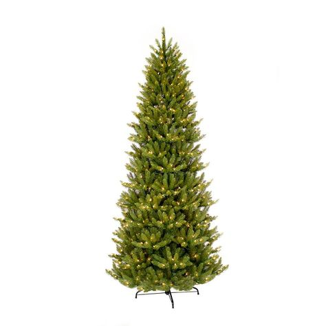 Puleo International 6 5 Ft Pre Lit Incandescent Slim Fraser Fir Artificial Christmas Tree With 350 Ul Clear Lights Christmas Tree Forest Pre Lit Christmas Tree Slim Artificial Christmas Trees