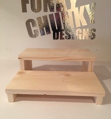 Miraculous Details About Rustic Wood 2 Step Display Stand Extra Deep Camellatalisay Diy Chair Ideas Camellatalisaycom