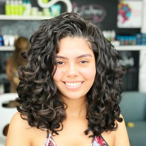 Long Hairstyle for Thick Curly Hair hair haircut 60 Styles and Cuts for Naturally Curly Hair Big Curly Hair, Haircuts For Curly Hair, Wavy Hair, Bob Hairstyles, Straight Hairstyles, Formal Hairstyles, Wedding Hairstyles, Long Layered Curly Hair, Medium Curly Haircuts