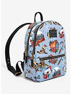 Loungefly Harry Potter Flash Tattoo Print Mini Backpack Harry Potter Bag Harry Potter Shoes Harry Potter Backpack