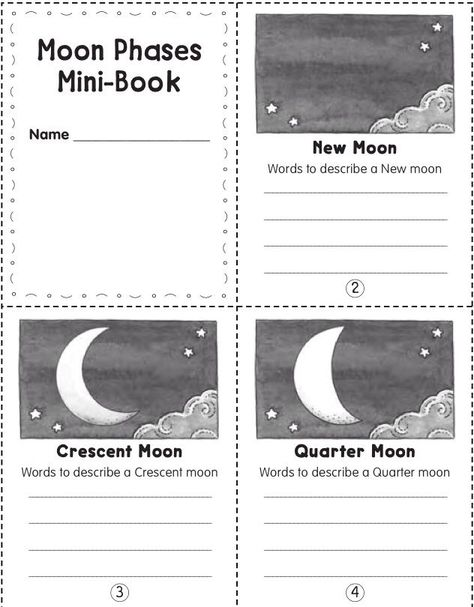 Phases of the Moon Worksheets - Superstar Worksheets | 607x474