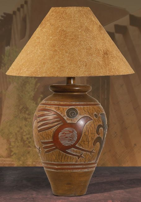 Ah 6184 Indian Bird Southwest Table Lamp Southwestern Decor