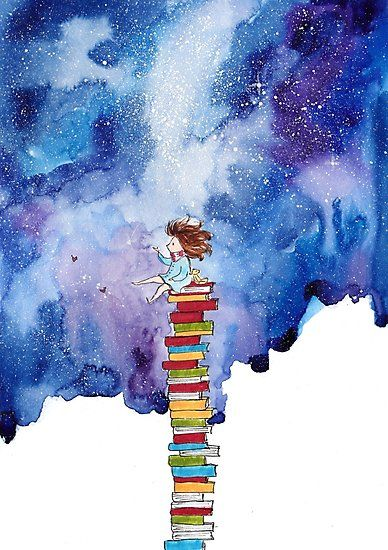 """""""We lose ourselves in books, we find ourselves there too"""". / Hand-drawn, ink and watercolour • Millions of unique designs by independent artists. Find your thing."""