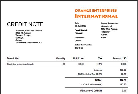 Credit Note Template Format Free - Excel XLS Templates | Excel ...