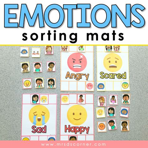 Emotions Sorting Mats [ 10 different emotions ]   Emotions Activity