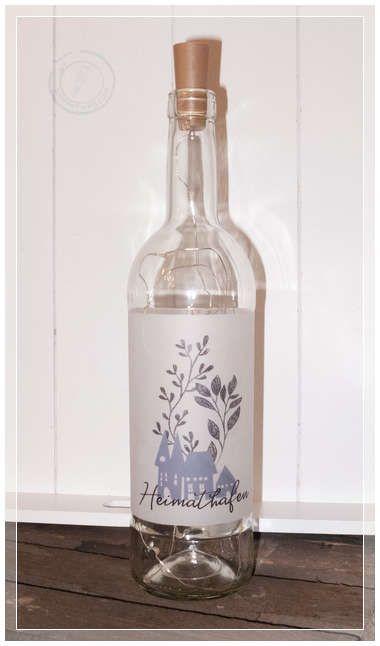 Glasflasche Mit Heimathafen Motiv Ein Stimmungsvolles