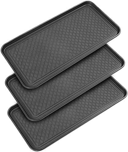 New Multi Purpose Boot Mat Trays 3 Pack 30 X 15 X 1 2in Indoor Outdoor Tray W Raised Edges Shoe Mats Entryway Winter Doormat Boot Tray Dog Water Mat In 2020