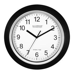 Home Atomic Wall Clock Clock Silver Wall Clock