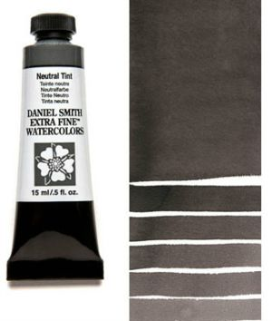 Daniel Smith Neutral Tint Watercolor Tube With Swatch Paint Out